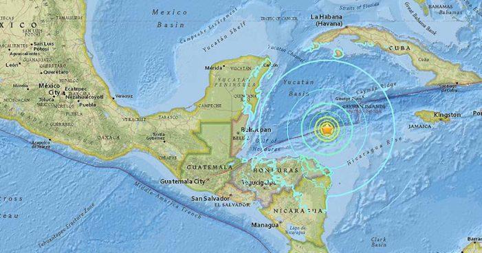 Registran terremoto magnitud 7.6 en costas de Honduras, se sintió en Quintana Roo