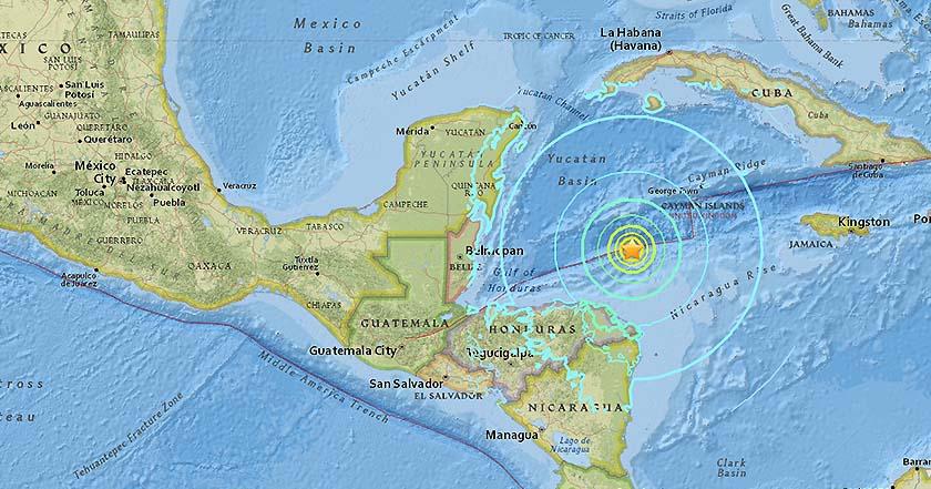 sismo honduras caribe