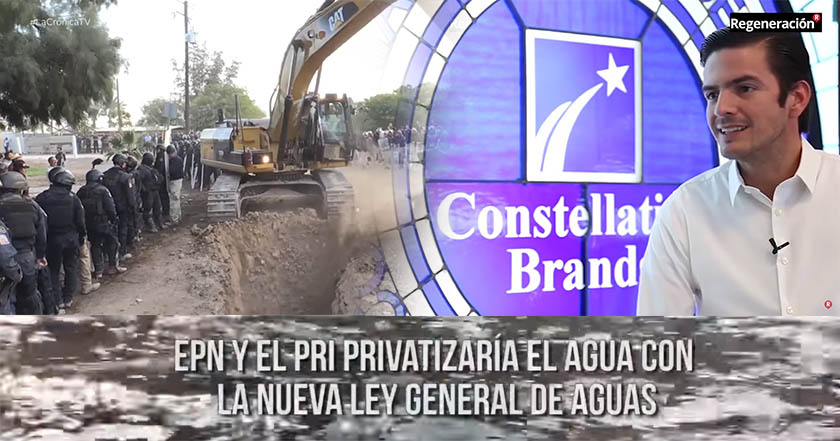 aguas privatización del agua mexicali baja california constellation brands