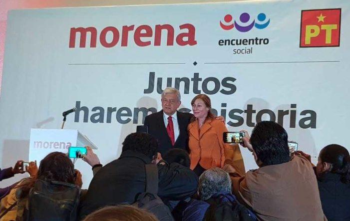 AMLO presenta a Tatiana Clouthier como coordinadora de campaña