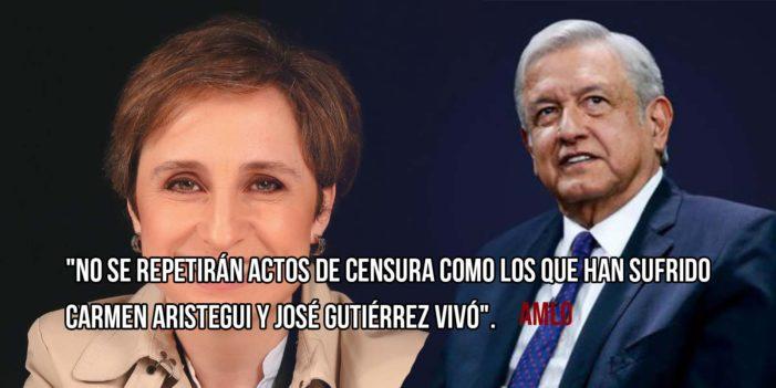 AMLO asegura que si gana, no habrá censura ni despidos como el caso de Carmen Aristegui y Gutiérrez Vivó