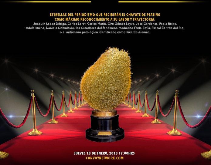 Comparten en redes los premios #ChayotesDeOro para los medios más vendidos
