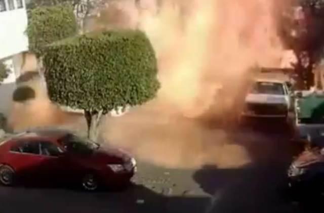 Tanque de gas explota por mala maniobra, trabajadores se dan a la fuga y empresa niega pagar daños