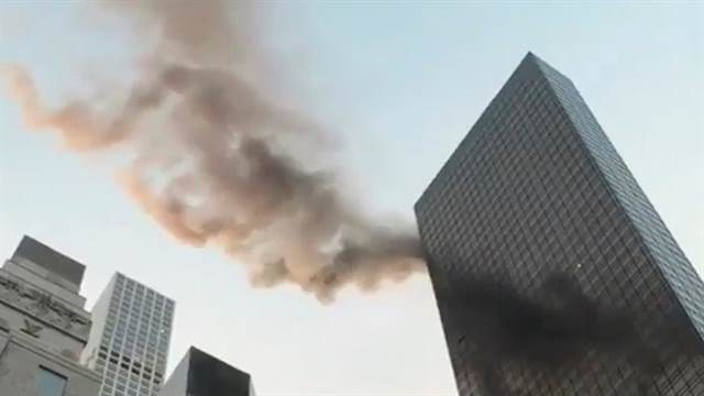 Se incendia último piso de la Torre Trump en New York