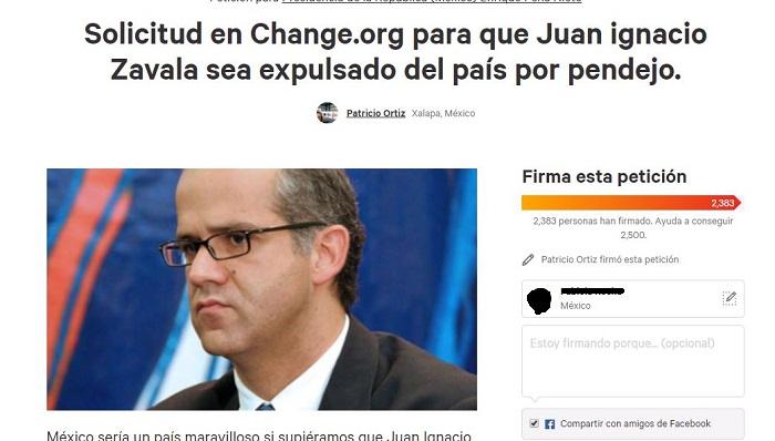 Petición de expulsar a Juan Ignacio Zavala 'por pendejo', supera a la de sacar a Ackerman