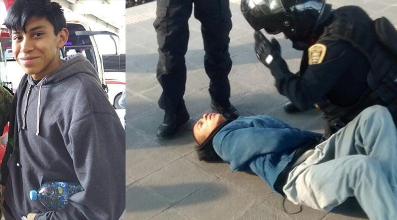 Marco Antonio Sánchez Flores joven prepa detenido policía ciudad de méxico