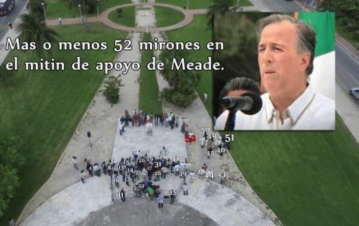 Meade ante 50 seguidores dice que encarcelará y quitará propiedades a políticos corruptos