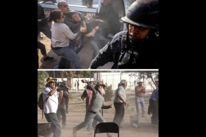Investigan abusos de la policía de Baja California en desalojo de manifestantes