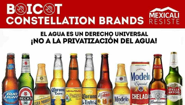 Mexicali defiende su agua, boicot a cervecera Constellation Brands