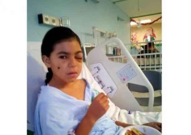 Niña de 11 años pierde vista del ojo izquierdo por lesión de bala en Año Nuevo