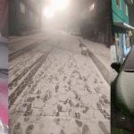 Cae agua nieve en La Marquesa, Cuajimalpa; alerta en mayoría de las delegaciones (VIDEO e IMÁGENES)