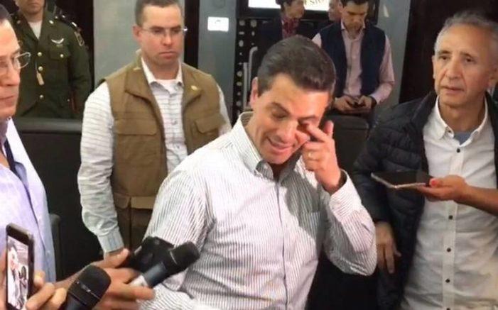 Usuarios de las redes sociales cuestionan a Peña Nieto por ojos rojos