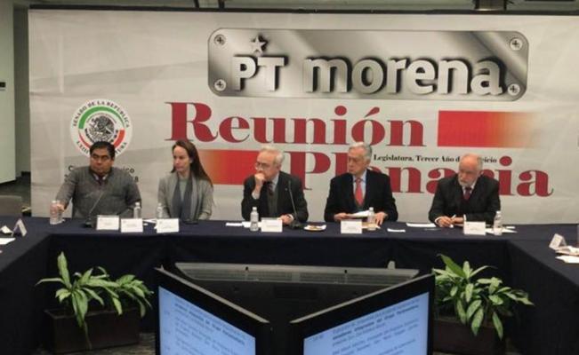 Gabinete de AMLO y Gabriela Cuevas asisten a plenaria de senadores de Morena-PT