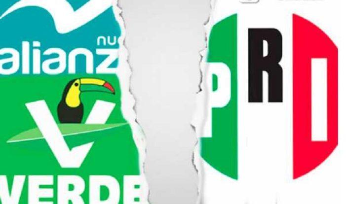 PRI se queda solo en Edomex, Verde y Panal rechazan alianza para alcaldías