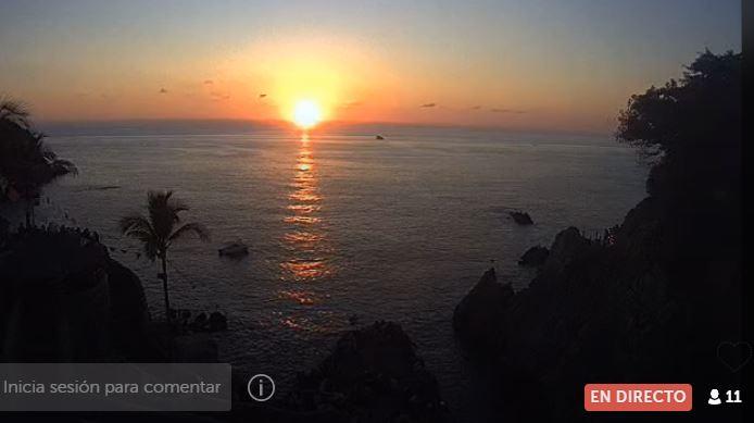 Así la primer puesta de sol desde Acapulco (transmisión en vivo)