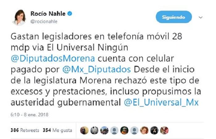 Diputados y Senadores han gastado 28 mdp en telefonía, excepto Morena