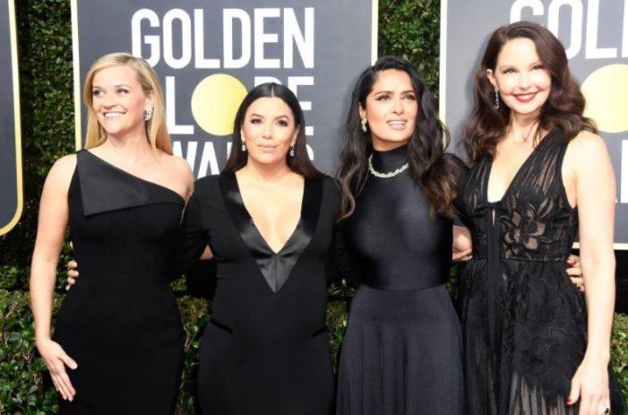 Actrices acuden a los Globos de Oro con activistas pro mujer para continuar con mensaje: Time's up