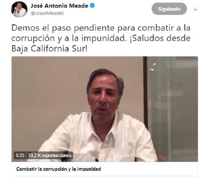Meade pidió 'combatir corrupción e impunidad' con SNA y usuarios le responden