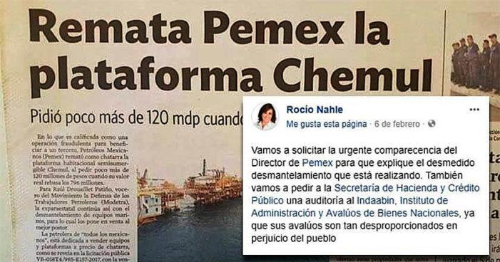 Como fierro viejo, remata Pemex imponente plataforma petrolera Chemul