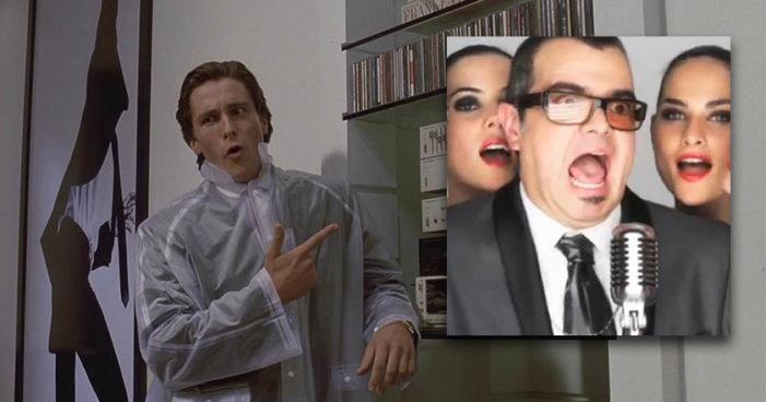 Comparan a Aleks Syntek con personaje de 'Psicópata Americano' (Video)
