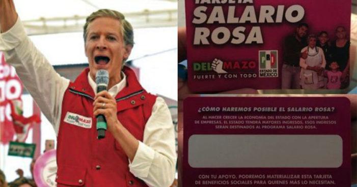 Del Mazo esperó hasta tiempos electorales para arrancar entrega del Salario Rosa