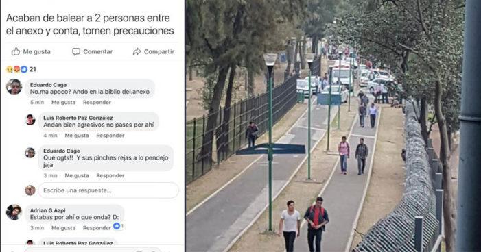 Dos muertos en balacera en Ciudad Universitaria, UNAM indica que no eran estudiantes