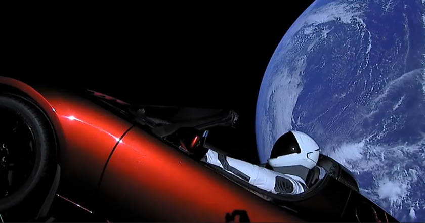 Falcon Heavy space x starman