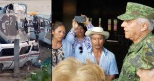 Cienfuegos sobre helicóptero de Jamiltepec