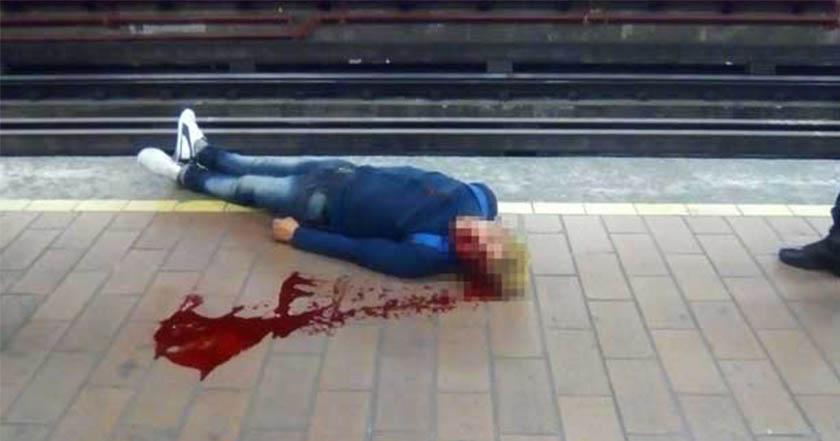 Metro accidente