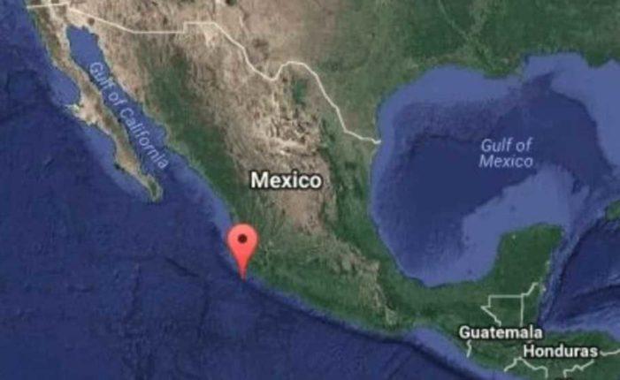 SSN registra sismo de magnitud de 6 grados en Jalisco