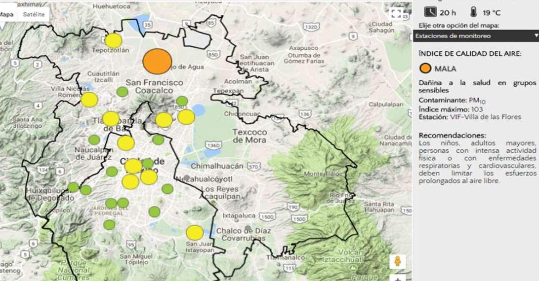 Mala calidad del Aire en Tepotzotlán y Ecatepec, Estado de México