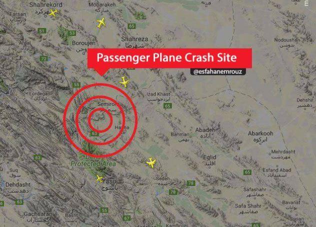 Avión con 66 personas cayó en Irán, nadie sobrevivió