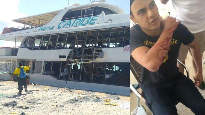 Explosión de un barco en Cozumel, hay varios heridos