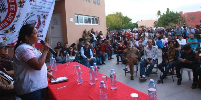 Denuncia Marichuy oleada de violencia contra indígenas organizados