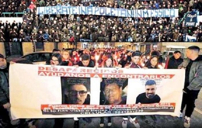 Marchan en Italia por 3 napolitanos desaparecidos en México, municipales habrían participado