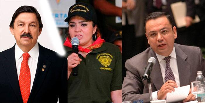 Nestora Salgado, Napoleón Gómez Urrutia y Germán Martínez aspirantes al Senado por Morena