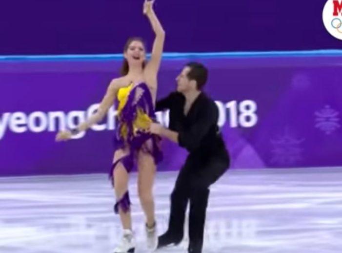 Patinadores ucranianos bailan al ritmo de huapango en los juegos Olímpicos de Invierno
