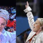 Pink se saca el chicle antes de cantar himno de EU