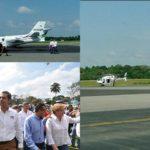 Ochoa Reza llegó a Villahermosa en un avión privado, insultó y se fue en helicóptero