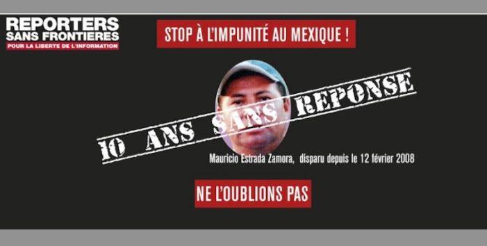 RSF denuncia: Mexico sin resolver 22 casos de periodistas desaparecidos