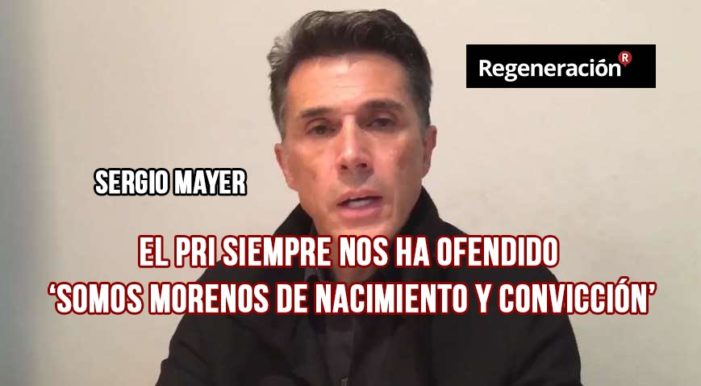Sergio Mayer dice que Ochoa Reza ofendió a todos los mexicanos (VIDEO)