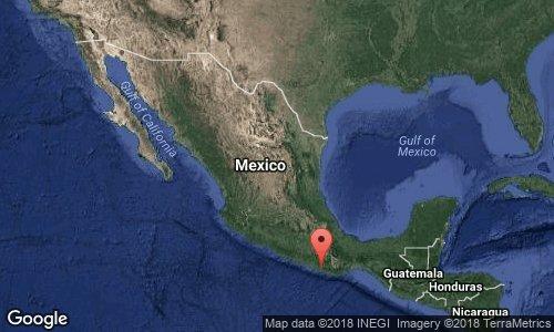 Sismo de 6 grados con epicentro en Pinotepa Nacional