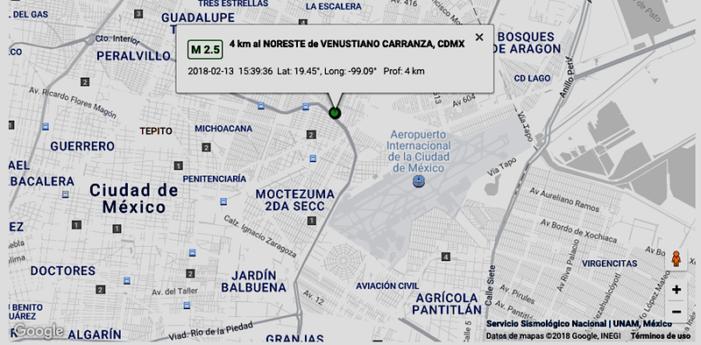 CDMX: Sismo en las inmediaciones del Aeropuerto Internacional