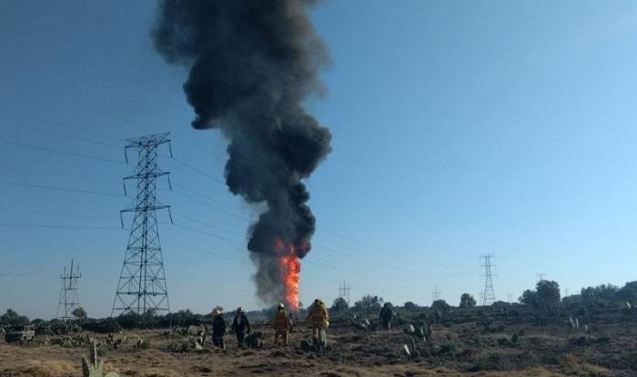 Explota toma clandestina y provoca incendio en el Edomex