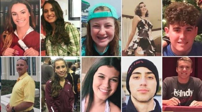 Difunden mensajes de estudiantes aterrados durante el tiroteo en Florida
