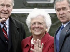 Barbara Bush, George H. W. Bush, George W. Bush