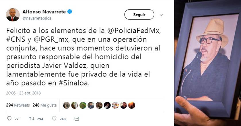 Asesinato de Javier Valdez, ligado a su actividad periodística: Renato Sales