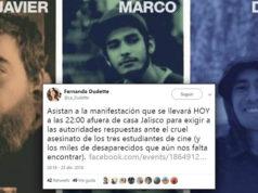 Jalisco se manifestará por los 3 estudiantes de cine asesinados