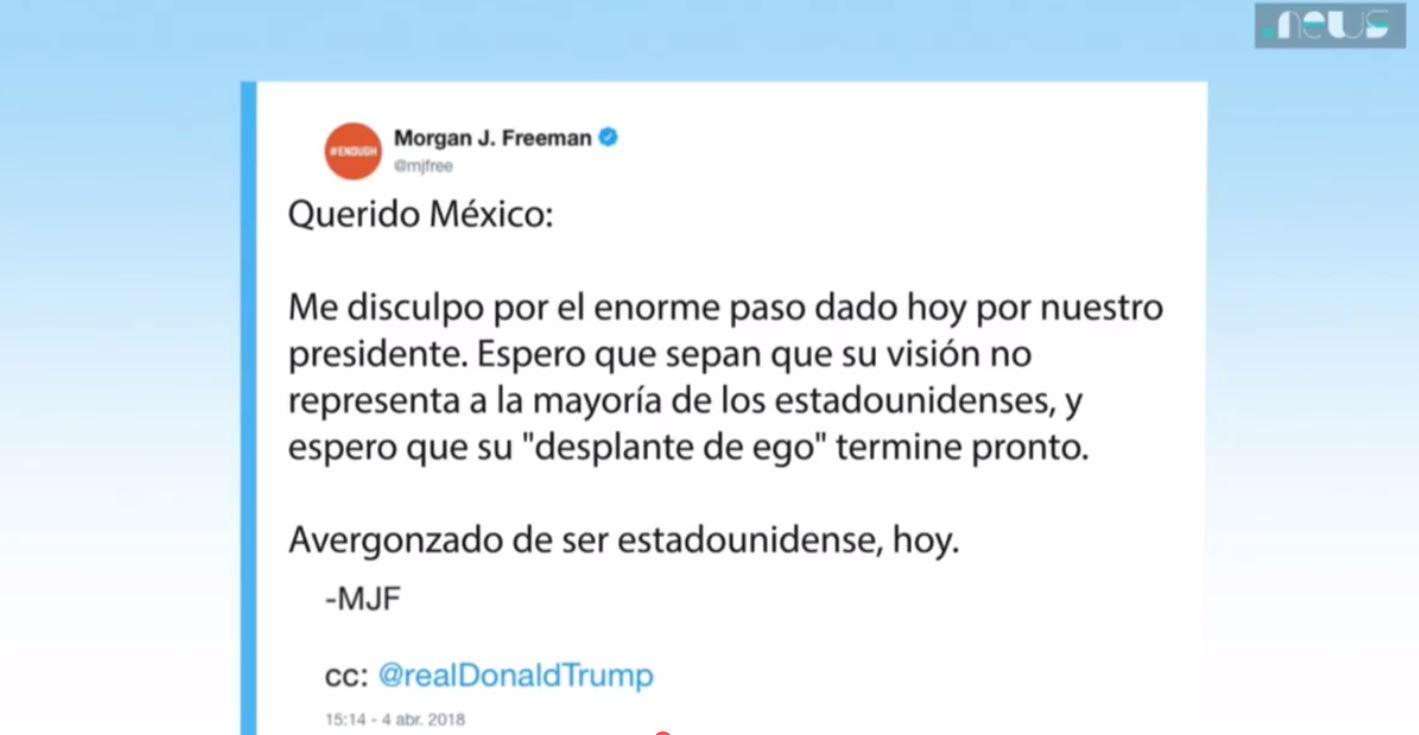 Se disculpa Morgan Freeman con México por acciones de Trump