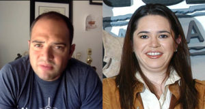 moderadores a Yuriria Sierra y León Krauze